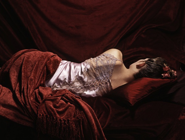 Sleeping Girl in Red - Nat Mags