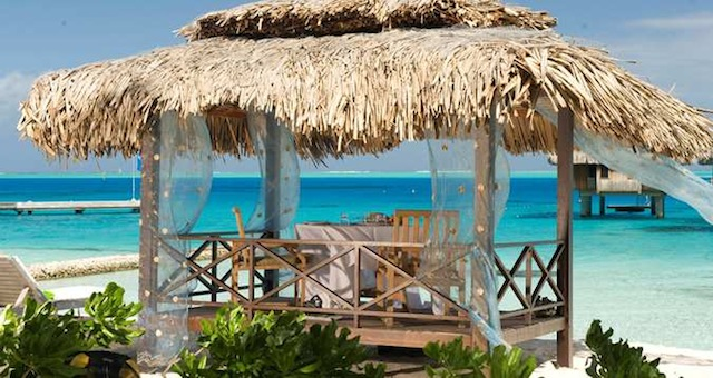 Romantic Breakfast or Lunch Cabana on the Beach